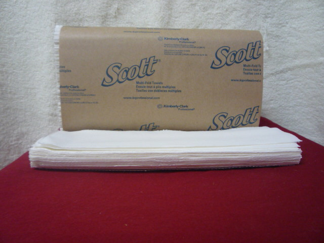 M Fold Towels Scott Surpass White